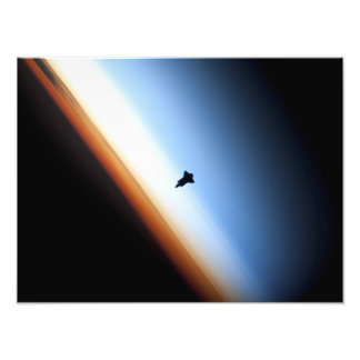 Silhouette of space shuttle Endeavour Art Photo