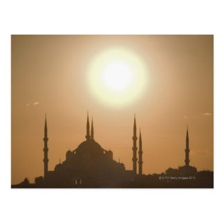 Silhouette of Suleymaniye Turkey, Istanbul Postcard