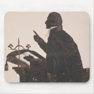 Silhouette of the Rev. L. Littleton Powys Mouse Pad
