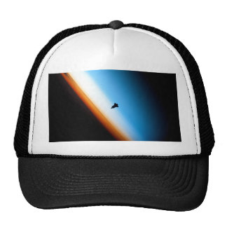 Silhouette of the Space Shuttle Endeavour Mesh Hats