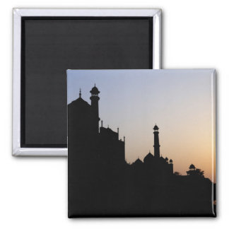 Silhouette of The Taj Mahal at sunset, Agra, Magnet