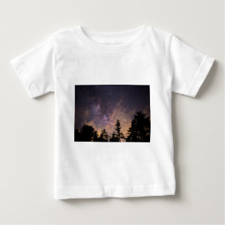 Silhouette of Trees at Night Baby T-Shirt