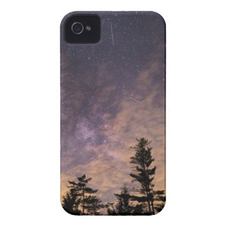 Silhouette of Trees at Night iPhone 4 Cover