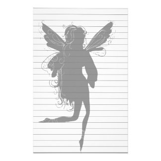 Silhouette of Winged Fairy Stationery