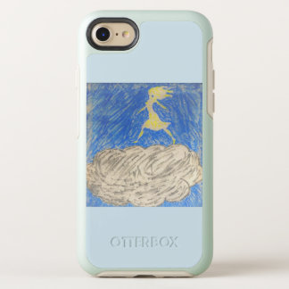 silhouette of woman walking on a cloud phone case