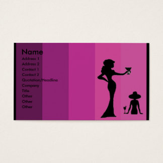 Silhouette of women Business Card