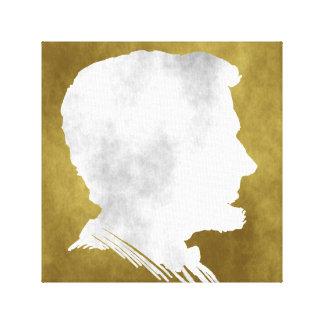 Silhouette Portrait Canvas Print