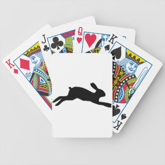 Silhouette Rabbit Bicycle Playing Cards