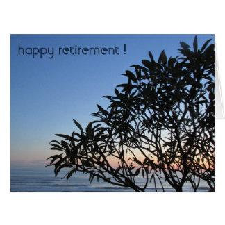 silhouette retiring tree big big greeting card