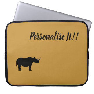 Silhouette Rhinoceros Laptop Sleeve