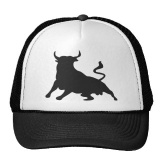 Silhouette Running with the Bulls Spain Cap