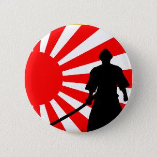 Silhouette Samurai 6 Cm Round Badge
