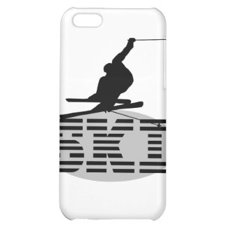 Silhouette Ski T-shirts and Gifts Case For iPhone 5C