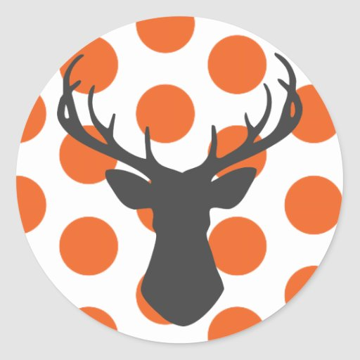Silhouette Stag Head Sticker