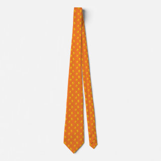 Silhouette Tree Frog Orange Ties For Men