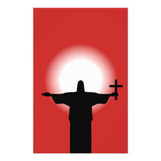 Silhouette with a cross 14 cm x 21.5 cm flyer