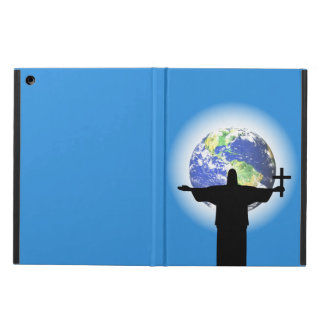 Silhouette with a cross case for iPad air