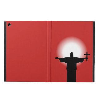 Silhouette with a cross iPad air case