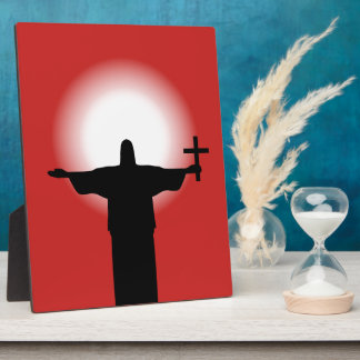 Silhouette with a cross plaque
