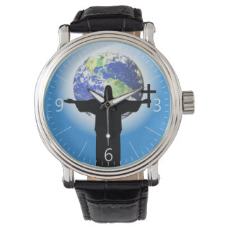 Silhouette with a cross watch
