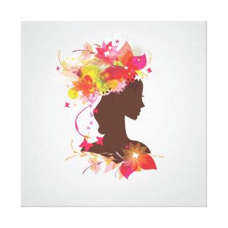 Silhouette Woman Canvas Print