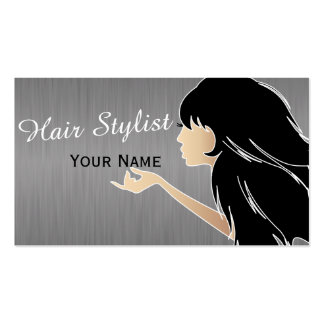 Silhouette Woman Hair Stylist Pack Of Standard Business Cards