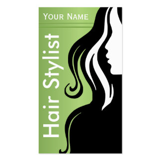 Silhouette Woman Hair Stylist | Professional Double-Sided Standard Business Cards (Pack Of 100)