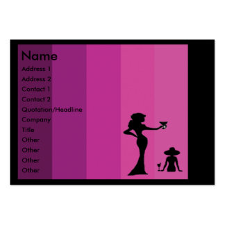 Silhouette women business cards