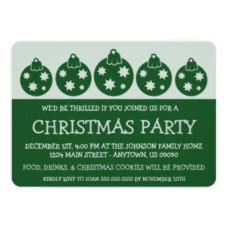 Silhouette Xmas Ornaments Invitations (Evergreen)