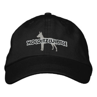 Silhouette Xoloitzcuintle Embroidered Hat