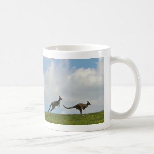 Silhouetted Kangaroos Mug