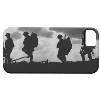 Silhouetted Marching World War I Soldiers (1917) iPhone 5 Cover