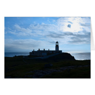 Silhouetted Neist Point Lighthouse Card