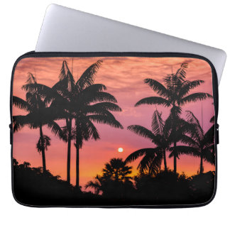 Silhouetted palm trees, Hawaii Laptop Sleeve