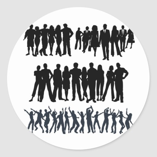 Silhouettes 7.ai round stickers