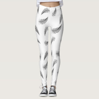 Silhouettes Feathers Leggings