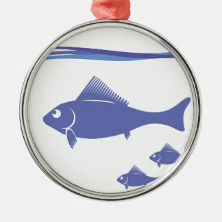 Silhouettes of Fish Metal Ornament