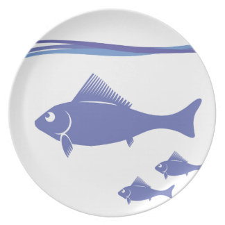 Silhouettes of Fish Plate