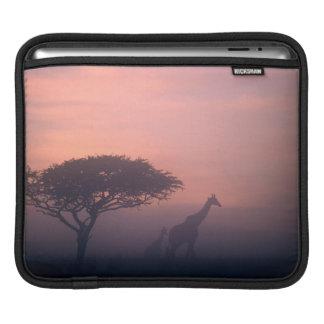 Silhouettes Of Giraffes iPad Sleeve
