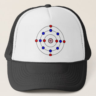 Silicon Atom Trucker Hat