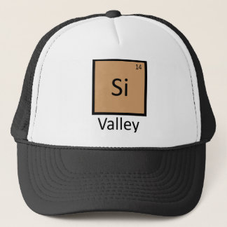 Silicon Valley Chemistry Periodic Table Pun Trucker Hat