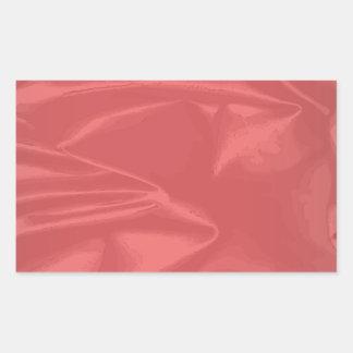 Silk Christmas Card Rectangular Sticker