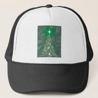 Silk Christmas Tree Trucker Hat