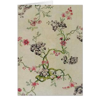 Silk design by Anna Maria Garthwaite, 1740 Card