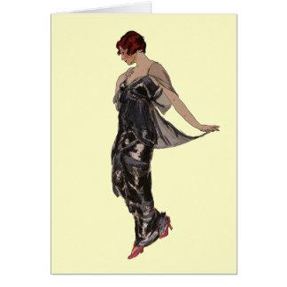 Silk Evening dress 1914 Greeting Card