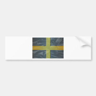 Silk Flag of Saint David Of Wales Bumper Sticker