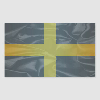 Silk Flag of Saint David Of Wales Rectangular Sticker