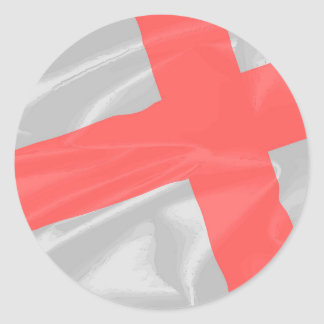 Silk Flag of Saint George Classic Round Sticker