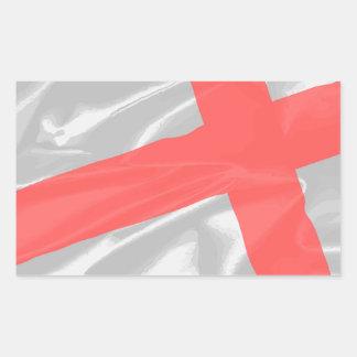 Silk Flag of Saint George Rectangular Sticker