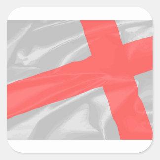 Silk Flag of Saint George Square Sticker